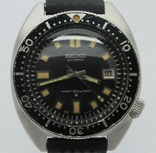 VINTAGE 1968 Seiko 6105-8009 Mens Steel Automatic Divers Watch = Great Patina =