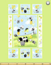"Susybee LEWE the EWE Balloon Sheep Panel Quilt Fabric ~ Approx. 35"" x 44"""