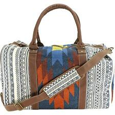 Tigerbear Republik Zebra Women Blue Duffel Bag NWT