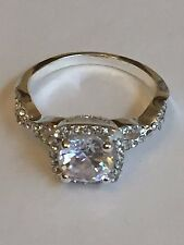 Charter Club Ring $27 Size 8 Silver Tone New Over Stock In Gift Box 201031