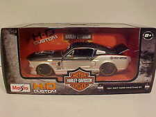 1967 Ford Mustang GT Fastback Die-cast Car 1:24 Maisto 8 inch Harley Davidson