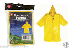 Emergency Rain Poncho Yellow Camping Hiking Sport Bug-Out-Bag Disaster