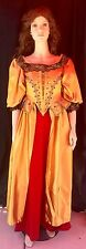 Red Gold Baroque Rococo Pirate Gown Dress Costume halloween