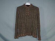 Woolrich Sweater Women LARGE Brown Pullover