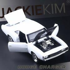 DODGE CHARGER 1970 Alloy Diecast 1/32 Car Model Toys THE FAST & FURIOUS White