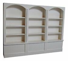 Large White Shop Shelves, Doll House, Pub, Shop Unit  Miniature 1.12th Scale
