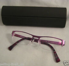 PRODESIGN Denmark Rx Eyeglasses Purple Metal Half Rim Eye Glass Frames 1247