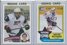 (Lot of 2) 2015 Auston Matthews Hot Shot Prospects Future Stars Rookie Card RC