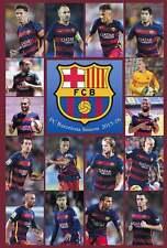 FC BARCELONA SEASON 2015-16  TEAM SOCCER PAPER POSTER #3
