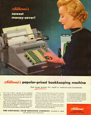 1954 ad for  NATIONAL'S Bookeeping Machine, duplex adding-subtracting- 071113d