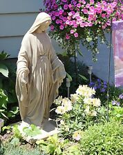 Virgin Mary Statue Blessed Mother Garden Sculpture Our Lady of Fatima Resin