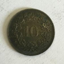 Switzerland Helvetia 10 Rappen 1876 Coin