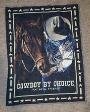 Western Horse Cowboy Tapestry Fabric Panel