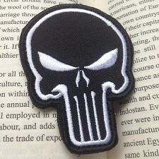 NEW PUNISHER SKULL ARMY MORALE MILSPEC AIRSOFT TACTICAL Hook & Loop PATCH