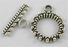20Sets Tibetan Silver Toggle Clasps Lead Free Round Antique Silver Toggle Clasps