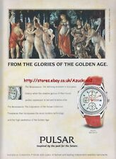 Pulsar Chronograph Watch 1993 Magazine Advert #2523