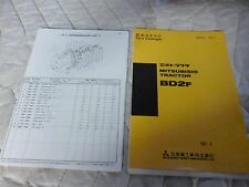 Mitsubishi BD2F Dozer  Parts Manual