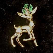 VINTAGE GERRYS DEER CHRISTMAS SIGNED PIN FREE SHIPPING