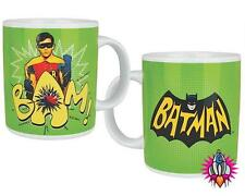 VINTAGE DC COMICS ROBIN THE BOY WONDER BAM TEA COFFEE MUG CUP NEW & GIFT BOXED
