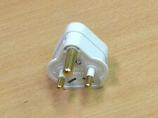5 Amp White Plug Top X 5 Round 3 Pin Plug