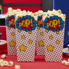 Popcorn Boxes - Comic Book Superhero Birthday Party, Kids/Adults Party