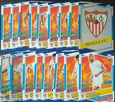 SEVILLA FC -  MATCH ATTAX - FULL SET 18 -  UCL 2016-17 TOPPS
