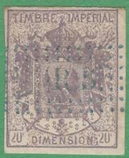 France Dimension Revenue Yvert #DI-6A used 20c dull violet type 1 1865 cv $39