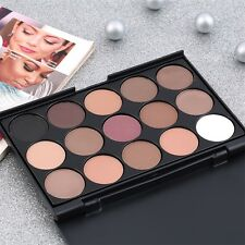 15 Color Professional Cosmetic Eye Shadow Pigments Makeup Palette Matte F7