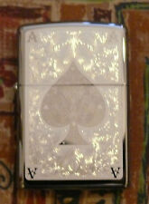 PLAIN ACE FILIGREE ZIPPO LIGHTER FREE P&P FREE FLINTS