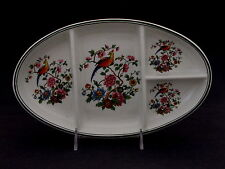 D. E. McNicol China Restaurant Ware Oval Relish Tray w 4 Sections, Bird & Flower