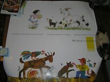 My Friend is Your Friend Eric Carle & Kazuo Iwamura Large Poster Print for Frame