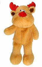 Dog Puppy Christmas toy Good Boy Raggy Reindeer large 35cm stuffing free Soft