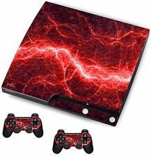 Red Electric Sticker/Skin PS3 Playstation 3 Console/Remote controllers,psk21