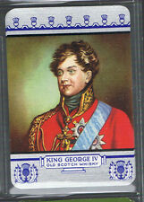 Playing Swap Cards 1 VINT WIDE BRITISH KING GEORGE 1V  SCOTCH WHISKY ADVT D69