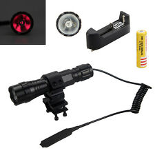Tactical 940nm Infrared IR Night Vision Flashlight Torch+Mount+Pressure Switch