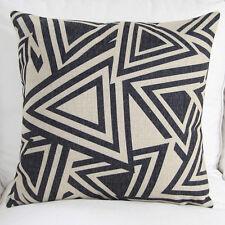 """Vintage """"Black Geometric"""" cushion cover Decor pillow case 45cm*45cm gift"""
