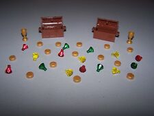 lego CASTLE minifigure TREASURE CHEST JEWEL golden crystal lotr hobbit lion cup
