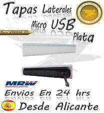 Tapa cubierta lateral micro USB para Sony Xperia Z2 L50w PLATA D6502 D6503 blanc