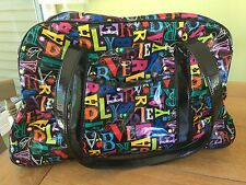 NWOT Vera Bradley FROM A to VERA Frill Travel Tour Date Duffel BagTrolley Sleeve