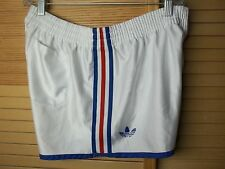 Vintage Adidas soccer football 3 stripes trefoil white sprinter shorts Japan