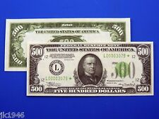 Replica $500 1934 FRN US Paper Money Currency Copy
