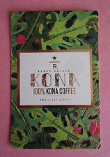 STARBUCKS 2015 - Series Reserve Tasting Card KONA PARRY ESTATE - NEW