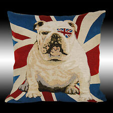 COOL ENGLAND FLAG BULLDOG TAPESTRY DECO CUSHION COVER THROW PILLOW CASE 17""