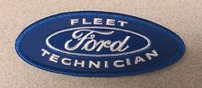 NEW FLEET FORD TECHNICIAN TECH BLUE WHITE STITCHING PATCH