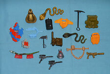 vintage G.I. GI JOE gijoe WEAPONS & ACCESSORIES LOT #13 helmets shields belts