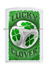 Zippo 3733 lucky 4 leaf clover dice RARE & DISCONTINUED Lighter