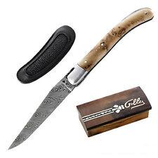 orig. Laguiole Messer von Fontenille Pataud Le Pocket 160 L Damast Wacholderholz