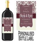 Personalised Bottle Label Wedding Gift Favour Wine, Spirit Or Champagne WDBL 10