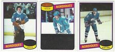 9 1980-81 TOPPS HOCKEY QUEBEC NORDIQUES CARDS (DION/CLOUTIER+++)