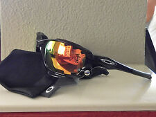 New Oakley Racing Jacket Polarized Sunglasses Polished Black / Ruby Vented Lens